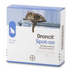 Droncit Spot On Antielmintico Gatti 4 Pipette