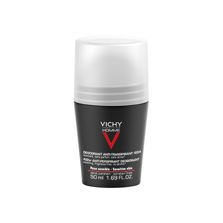 Vichy Homme Deodorante Roll On 48h Pelle Sensibile 50 Ml