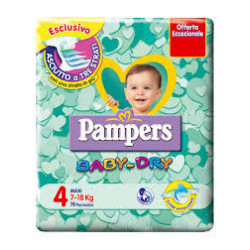 Pampers Baby-dry 7-18 Kg