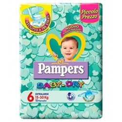 Pampers Baby-dry Pannolini 15-30kg Extra Large