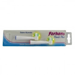 Forhans Power Plus Testina 2 Pezzi