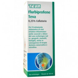 Flurbiprofene Teva Collutorio 160ml