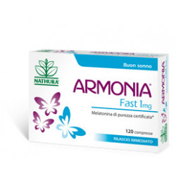 Armonia Fast 1mg Melatonina integratore 120 Compresse