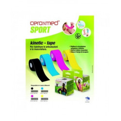 Ceroxmed Sport Kinetic Tape Cerotto Colore Blu