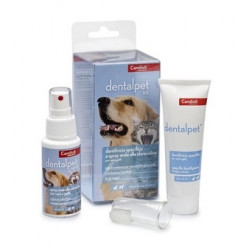 Dentalpet Kit Dentifricio 50ml+spray Orale 50ml+1 Ditale