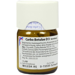 Carbo Betulae D3 Methano Polvere 50 G Weleda
