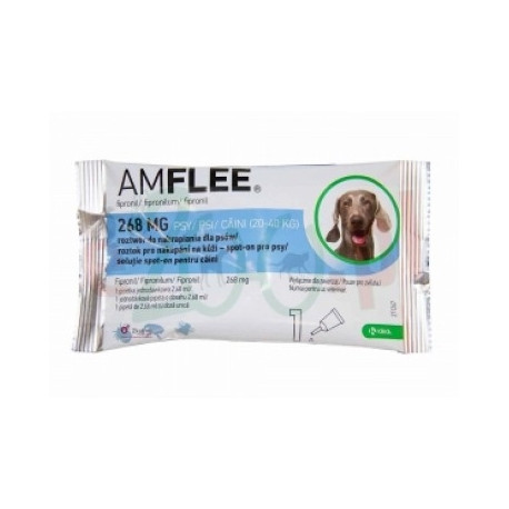 Amflee 268mg Spot On 3 Pipette Per Cani 20-40kg