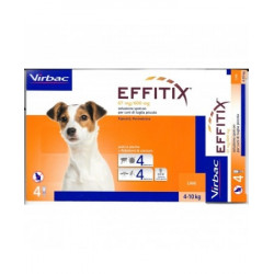Effitix Spot On Cani Piccoli 1,10ml 67mg/600mg 4 Pipette