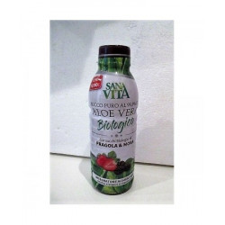 Sanavita Aloe Vera Succo Puro Fragole E More 500ml