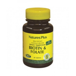 Nature's Plus Biotina & Folate 90 Tavolette