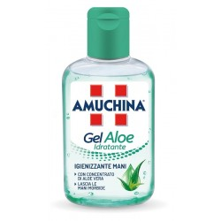 Amuchina gel aloe disinfettante mani con proprietà idratanti 80 ml
