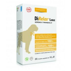 Dynamopet Direlax large 20 bustine 10 g integratore calmante per cani
