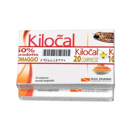 Pool pharma Kilocal 20 + 10 compresse integratore dimagrante