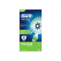Oral B Pro 600 Cross Action Spazzolino Verde