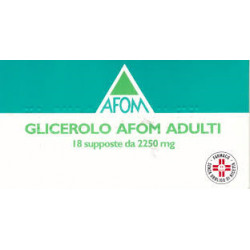 Glicerolo Afom* Adulti 18 Supposte 2250mg