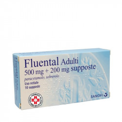 Fluental*adulti 10 Supposte 500mg+200mg