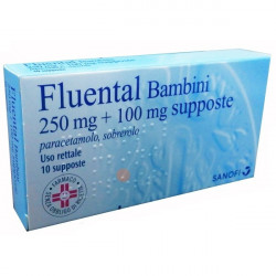 Fluental*bambini 10 Supposte 250mg+100mg