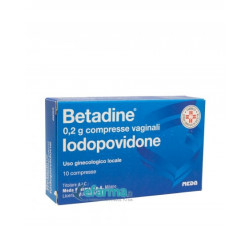 Betadine*10 Compresse Vaginali 200mg